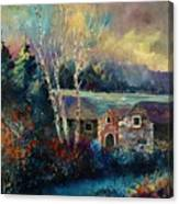 Old Houses In Hour Canvas Print