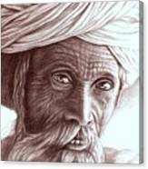 Old Indian Man Canvas Print