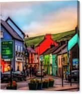 Old Irish Town The Dingle Peninsula At Sunset Canvas Print