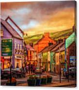 Old Irish Town The Dingle Peninsula Late Sunset Canvas Print