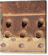 Old Iron Hinges Canvas Print