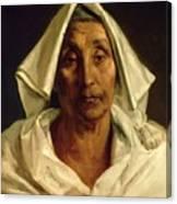 Old Italian Peasant Canvas Print