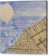Old Japan At Nightfall Canvas Print