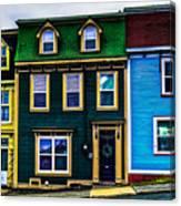Old Jellybean Row Houses Canvas Print