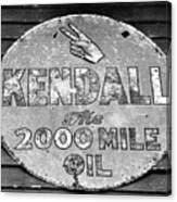 Old Kendal Sign Canvas Print