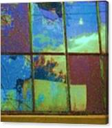 Old Lace Factory Window Canvas Print