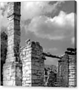 Old Limestone House Ruins Canvas Print
