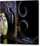 Old Lock On A Cast Iron Gate Canvas Print