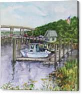 Old Lyme Boat Yard At The Dep Canvas Print