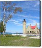 Old Mackinaw Point Light Canvas Print