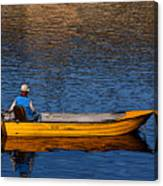 Old Man And His Boat Canvas Print