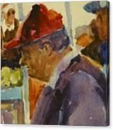 Old Man At The Market Canvas Print