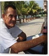 Old Man Drinking Coca Cola Canvas Print