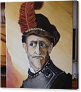 Old Man In Military Costume Canvas Print