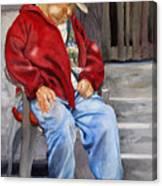 Old Man Resting Canvas Print