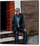 Old Man Waiting Canvas Print