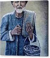 Old Man With His Stones Canvas Print