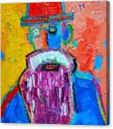 Old Man With Red Bowler Hat Canvas Print