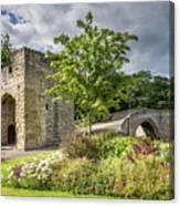 Old Medieval Bridge At Warkworth Canvas Print