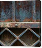 Old Metal Gate Detail Canvas Print