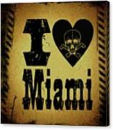 Old Miami Canvas Print