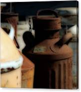 Old Milk Cans Canvas Print