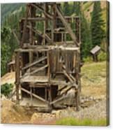 Old Mining Equipment Canvas Print