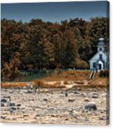 Old Mission Point Light House 01 Canvas Print