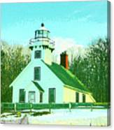 Old Mission Point Lighthouse Canvas Print