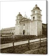 Old Mission Santa Barbara, Cal Circa 1895 Canvas Print