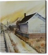 Old Morgan Train Depot Canvas Print