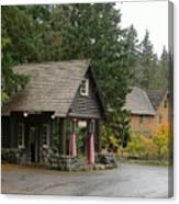 Old Mountain Gas Station Canvas Print