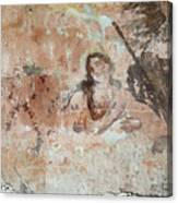Old Mural Painting In The Ruins Of The Church Canvas Print