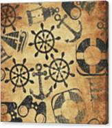 Old Nautical Parchment Canvas Print