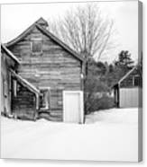 Old New England Barns In Winter Canvas Print