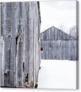 Old New England Barns Winter Canvas Print