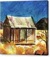 Old New Mexico Cabin Canvas Print
