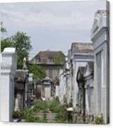Old New Orleans Cemetery - The Big House  Canvas Print