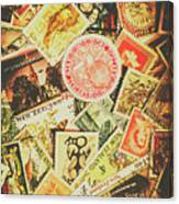 Old New Zealand Stamps Canvas Print