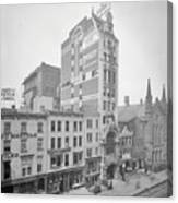Old Nyc New Amsterdam Theater Photograph - 1905 Canvas Print