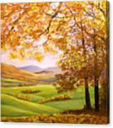 Old Oak Tree On A High Hill II Canvas Print