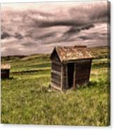 Old Outhouses Canvas Print