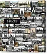 Old Paris Collage Canvas Print