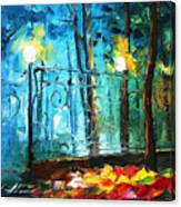 Old Park 2 - Palette Knife Oil Painting On Canvas By Leonid Afremov Canvas Print