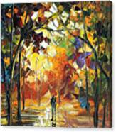 Old Park 3 - Palette Knife Oil Painting On Canvas By Leonid Afremov Canvas Print