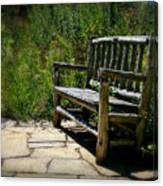 Old Park Bench Canvas Print