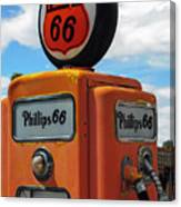 Old Phillips 66 Gas Pump Canvas Print