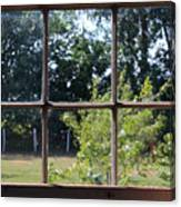 Old Pitted Glass Window Canvas Print