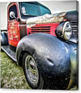 Old Plymouth Truck Canvas Print