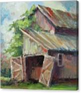 Old Pole Barn Canvas Print